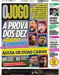 capa Jornal O Jogo de 19 maio 2020