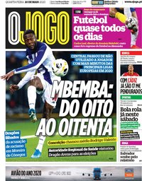 capa Jornal O Jogo de 20 maio 2020