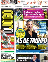 capa Jornal O Jogo de 23 maio 2020