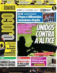 capa Jornal O Jogo de 24 maio 2020