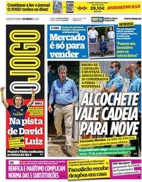 capa Jornal O Jogo de 29 maio 2020