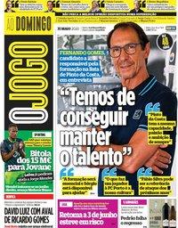 capa Jornal O Jogo de 31 maio 2020