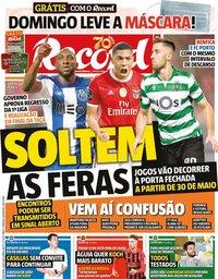 capa Jornal Record de 1 maio 2020