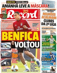 capa Jornal Record de 2 maio 2020