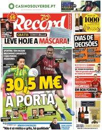 capa Jornal Record de 3 maio 2020