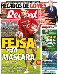 capa Jornal Record de 4 maio 2020
