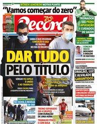 capa Jornal Record de 5 maio 2020