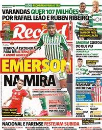 capa Jornal Record de 6 maio 2020