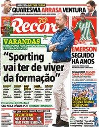 capa Jornal Record de 7 maio 2020