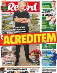 capa Jornal Record de 8 maio 2020