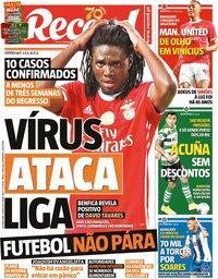 capa Jornal Record de 11 maio 2020