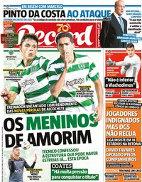 capa Jornal Record de 12 maio 2020