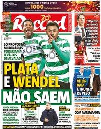 capa Jornal Record de 16 maio 2020