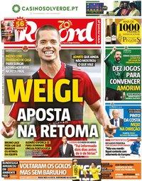 capa Jornal Record de 17 maio 2020