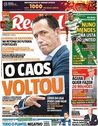 capa Jornal Record de 21 maio 2020