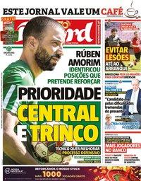 capa Jornal Record de 25 maio 2020