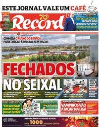 capa Jornal Record de 26 maio 2020