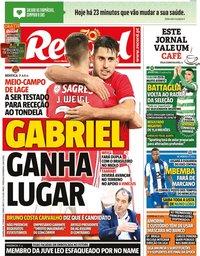 capa Jornal Record de 27 maio 2020
