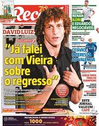 capa Jornal Record de 30 maio 2020