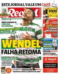 capa Jornal Record de 31 maio 2020