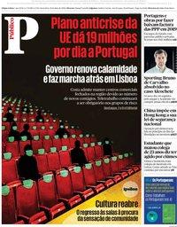 capa Público de 29 maio 2020
