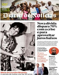 capa Diário de Notícias de 1 junho 2020