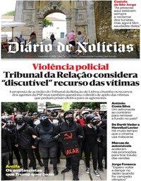 capa Diário de Notícias de 2 junho 2020