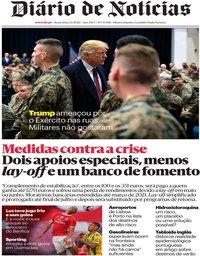 capa Diário de Notícias de 5 junho 2020
