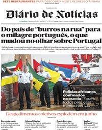 capa Diário de Notícias de 6 junho 2020