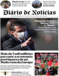 capa Diário de Notícias de 8 junho 2020