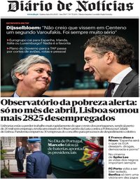 capa Diário de Notícias de 11 junho 2020