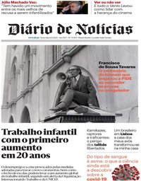 capa Diário de Notícias de 12 junho 2020