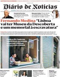 capa Diário de Notícias de 13 junho 2020