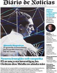 capa Diário de Notícias de 15 junho 2020
