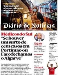 capa Diário de Notícias de 18 junho 2020