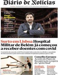 capa Diário de Notícias de 19 junho 2020