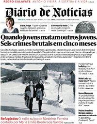 capa Diário de Notícias de 20 junho 2020