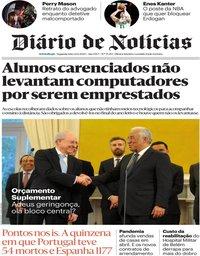 capa Diário de Notícias de 22 junho 2020