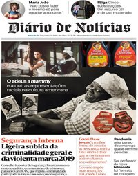 capa Diário de Notícias de 23 junho 2020