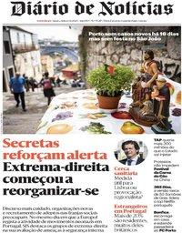 capa Diário de Notícias de 24 junho 2020