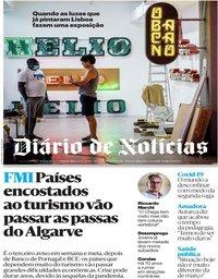 capa Diário de Notícias de 25 junho 2020