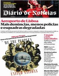 capa Diário de Notícias de 26 junho 2020