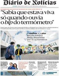 capa Diário de Notícias de 27 junho 2020