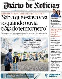 capa Diário de Notícias de 28 junho 2020