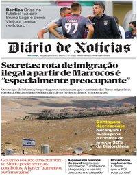 capa Diário de Notícias de 30 junho 2020