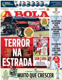 capa Jornal A Bola de 5 junho 2020