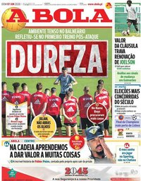 capa Jornal A Bola de 7 junho 2020