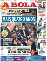 capa Jornal A Bola de 8 junho 2020