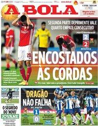 capa Jornal A Bola de 11 junho 2020