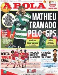 capa Jornal A Bola de 14 junho 2020